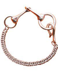 bde773f8e725 Lyst - Hermès Vintage Hermes Jester Gold Enamel Bracelet in Metallic