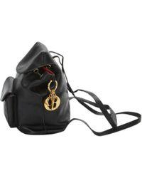 Dior - Pre-owned Vintage Lady Black Leather Backpacks - Lyst
