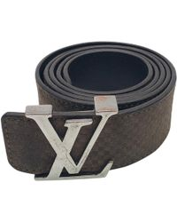 a2a26f4f97bd Louis Vuitton - Pre-owned Brown Leather Belts - Lyst