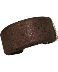 Brunello Cucinelli - Brown Leather Bracelets - Lyst