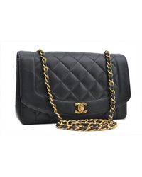 2d98f9c2f Chanel Beige Quilted Lambskin Diana Flap Bag in Natural - Lyst