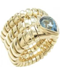 BVLGARI - Serpenti Gold Yellow Gold Ring - Lyst