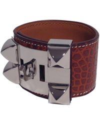 Hermès - Collier De Chien Exotic Leathers Bracelet - Lyst