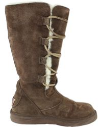 Lyst Ugg Appalachian Lace Up Tall Boots In Natural