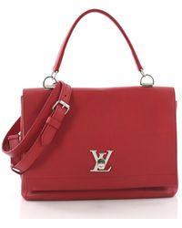 Louis Vuitton - Lockme Leather Handbag - Lyst