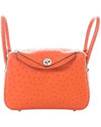 Hermès - Lindy Ostrich Handbag - Lyst