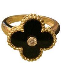 Van Cleef & Arpels - Alhambra Yellow Gold Ring - Lyst
