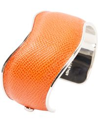 Tod's - Pre-owned Orange Leather Bracelets - Lyst