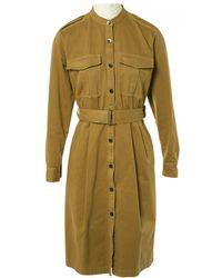 Dries Van Noten - Pre-owned Beige Cotton Dresses - Lyst