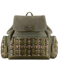 Chanel - Tweed Backpack - Lyst