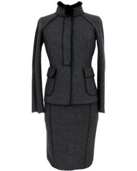 Blumarine - Wool Skirt Suit - Lyst