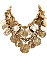 Moschino - Gold Metal Necklace - Lyst