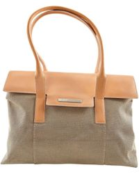 BVLGARI - Beige Cloth Handbag - Lyst