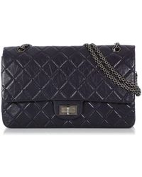 Chanel 2.55 Purple Leather Handbag