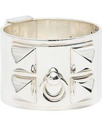 Hermès - Collier De Chien Silver Bracelet - Lyst
