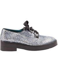 Sonia Rykiel - Silver Glitter Lace Ups - Lyst