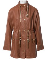 Acne Studios - Camel Leather Jacket - Lyst