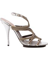 Roberto Cavalli - Leather Sandals - Lyst
