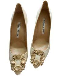 Manolo Blahnik - Hangisi Cloth Heels - Lyst