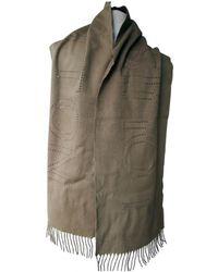 Louis Vuitton - Pre-owned Beige Cashmere Scarves   Pocket Squares - Lyst 35e62f978e84