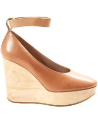 Chloé - Leather Mules & Clogs - Lyst