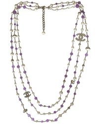 Chanel - Long Necklace - Lyst