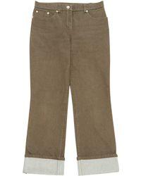 Louis Vuitton - Brown Cotton Jeans - Lyst