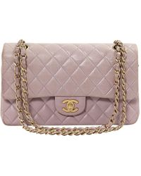 Chanel - Timeless/classique Purple Leather - Lyst