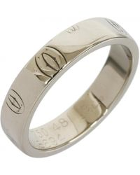 cartier preowned white gold ring lyst
