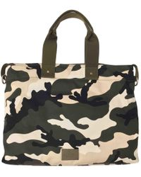 6f389eb487 Lyst - Valentino Camo Star-print Duffel Bag in Red for Men