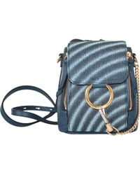 Chloé - Faye Leather Backpack - Lyst