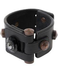Lanvin - Black Leather Bracelets - Lyst
