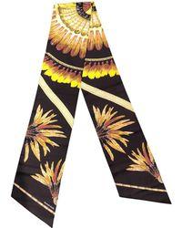 Hermès - Maxi Twilly Brown Silk Scarves - Lyst