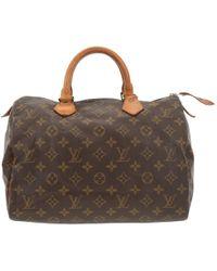 Louis Vuitton - Speedy Cloth Handbag - Lyst