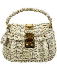 Miu Miu Pre-owned - Matelassé python handbag NeVCtbb