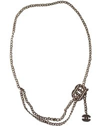Chanel - Pre-owned Gold Metal Long Necklaces - Lyst