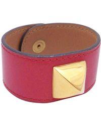 Hermès - Médor Burgundy Leather Bracelets - Lyst