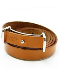 Hermès - Brown Leather Bracelets - Lyst
