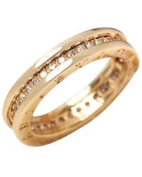 BVLGARI - B.zero1 Yellow Gold Ring - Lyst