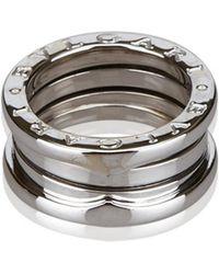 bvlgari bzero1 white gold ring lyst