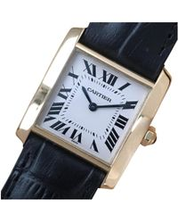 Cartier - Tank Française White Yellow Gold - Lyst
