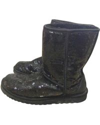 UGG - Pre-owned Glitter Boots - Lyst