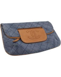 5014e2e72288 Lyst - Chanel Pre-owned Blue Denim - Jeans Handbags in Blue