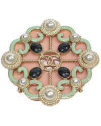 Chanel - Pink Metal Pins & Brooches - Lyst