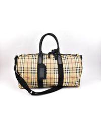 Burberry - Black Leather Travel Bag - Lyst