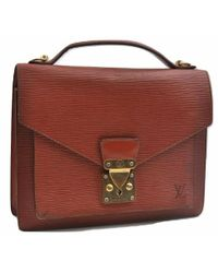 Louis Vuitton - Monceau Brown Leather - Lyst