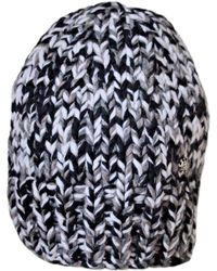 Chanel Gray Cashmere Cable Knit Pom Pom Beanie Hat in Gray - Lyst 199656e44ae3
