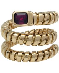 BVLGARI - Vintage Serpenti Other Yellow Gold Ring - Lyst