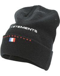 Vetements - Black Wool Hats & Pull On Hats - Lyst