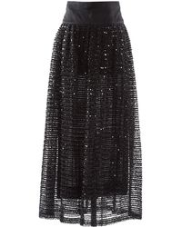 Chanel - Black Synthetic Skirt - Lyst